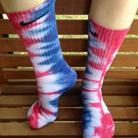 Tie-Dye Nike Pro Socks- SPECIAL EDITION Juanita Red White & Blue