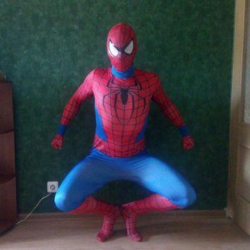 Kids Boys Girls Child Spiderman Costume Cosplay 3D Movie Spider Man Mask Christmas New Year Party Costume Suit