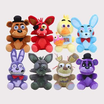 25cm  Sister Location  at  Nightmare Springtrap Bonnie Shadow Freddy Bear Red Foxy Mangle  Plush Doll
