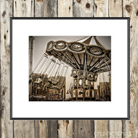 Brooklyn Fine Art Matted Mini Print - Round in Coney Island - Photography - 4x6 with 5x7 Mat