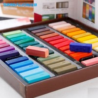 SIMBALION 24/ 48 color chalk soft multicolour pastels, stick hsp short drawing brush art supplies stationery