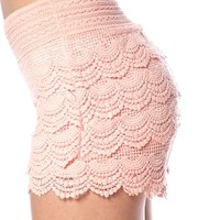 Crochet Lace Shorts - Peach from Casual & Day at Lucky 21 Lucky 21