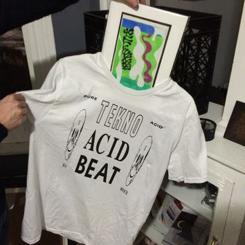 "NONPOROUS — ""TEKNO ACID BEAT"" SHIRT"