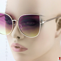"XXL OVERSIZED Cat Eye ""Roxanne""  Sexy Women's Sunglasses Metal Corners SEXY GIRL"