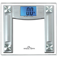 """Easy@Home High Precision Digital Bathroom Scale w/ 4.3"""" Extra Large Backlit Display and """"Smart Step-On"""" Technology, BMI reference Card, CW222"""
