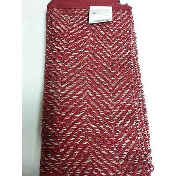 Threshold Herring Red Runner Rug 22In X 84In