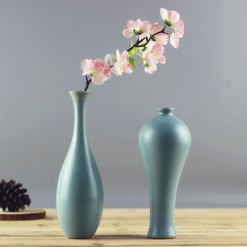 Modern Fashion Home Furnishing Small Handmade Ceramic Vases Flower Pottery Vase Desk Accessories Crafts Flower Pot