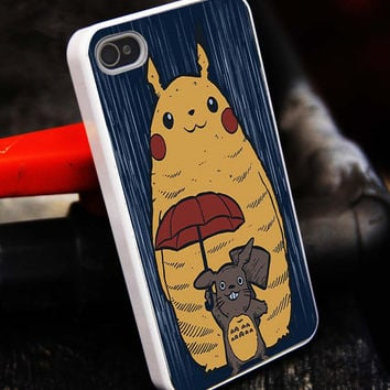 Pikachu Totoro Pokemon iPhone 5S case,iphone 5 case,iPhone 5C case,iphone 4 case,iphone 4S case,Samsung s3 case , samsung s4 case