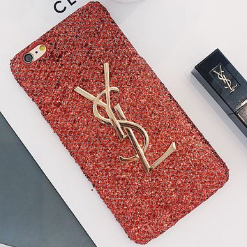 YSL Yves Saint Laurent Women's Stylish iPhone Case Cover red