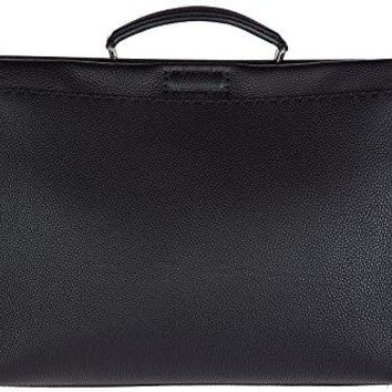 Fendi men's leather bag handbag cross-body messenger peekaboo eye monster black
