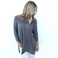 Latching Onto You Tunic Blouse In Pastel Olive