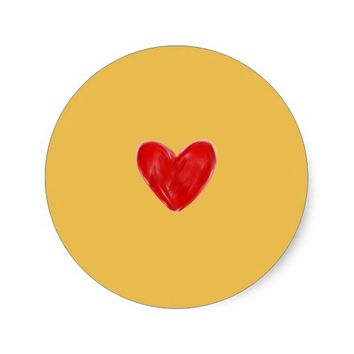 Classic Round Heart Sticker