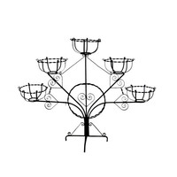 1890s Plant Stand, Wrought Iron Patio Decor