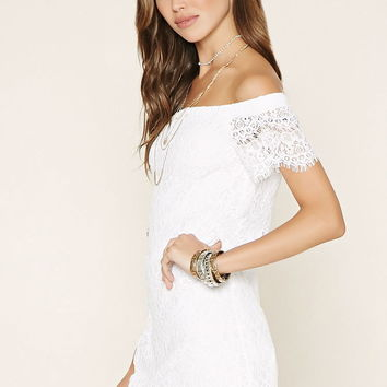 Lace Off-The-Shoulder Dress | Forever 21 - 2000186400