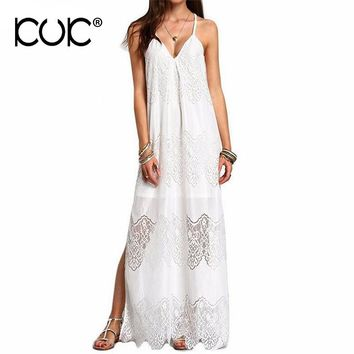 Kuk Plus Size Dresses For Women 4xl 5xl 6xl Maxi Dresses Long Summer Lace Boho Beach Tunic Big Size Women Clothes Vestidos A540