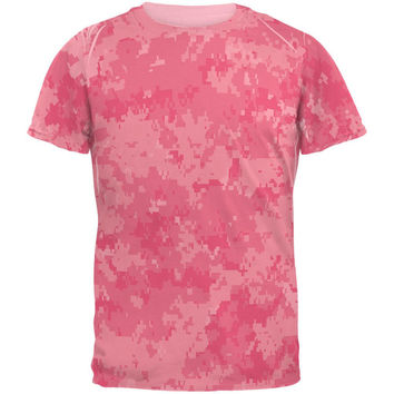 Pink Digital Camo All Over Pink Adult T-Shirt