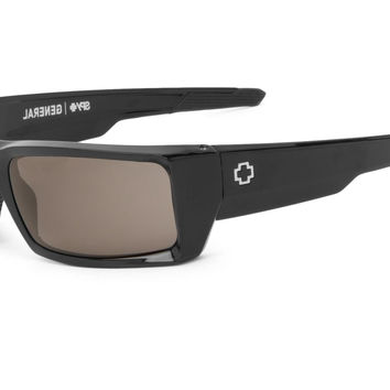 Spy General Black Sunglasses, Grey Polarized Lenses