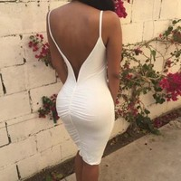 CUTE TWIST BACKLESS VEST DRESS