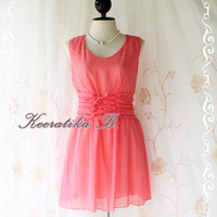 Flying II - Cutie Freshly Dress Salmon Toned  Matching Plait Rope Romance Dress