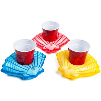 Summer Seashells Beverage Boats 3-Pack