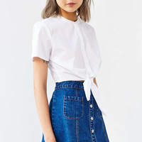 Alice & UO Betty Cropped Shirt - Urban Outfitters