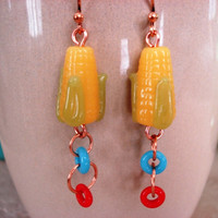 Farm Fresh Foodie Corn Earrings