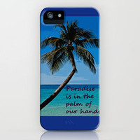 PARADISE iPhone Case by catspaws | Society6