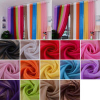 2016 Hot New Valances Colors Floral Tulle Voile Door Window Curtains Drape Panel Sheer For Home Living Room Bedroom Windows Z2