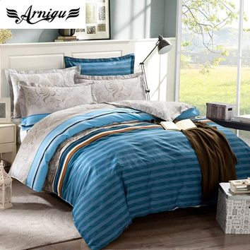 Stripe duvet cover set,3pc/4pc/5pc 100%Cotton bedding set bed sheet/mattress cover+quilt cover+pillowcase,double/queen/king size