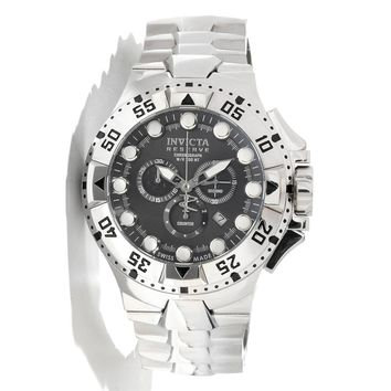 Invicta 13082 Men's Reserve Excursion Gunmetal Dial Stainless Steel Bracelet Chronograph Dive Watch