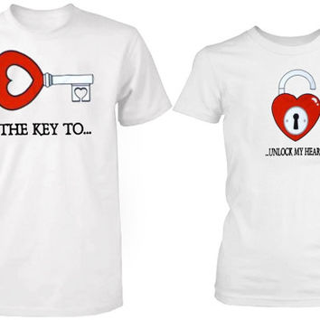 the key to unlock my heart tshirt couple ----- size S,M,L,XL,2L,3XL