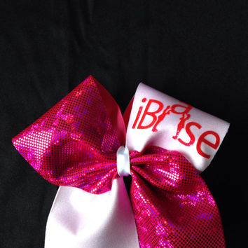 Cheer Bows - Pink iBase Bow