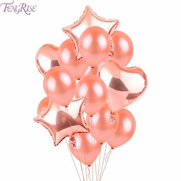 Champagne Star Wedding Party Balloons