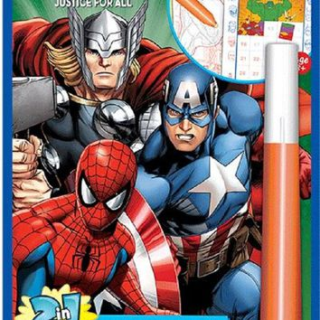 Marvel Hero-Justice for All Invisible Ink & Sticker Puzzles Book
