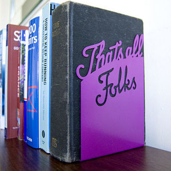 'That's All Folks' Book End