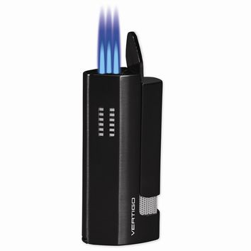 Vertigo Slider Black Matte Triple Flame Torch Lighter