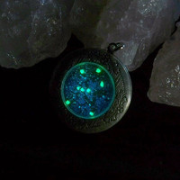 Zodiac Deep Space Locket - Orion Constellation with Glow in the Dark Stars - Clover13 Original Design