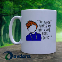 Ed Sheeran The A Team Lyric Cartoon Mug, Ceramic Mug, Coffee Mug