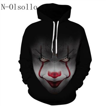 N-olsollo Harajuku Clown Killer Black Sweatshirts 2018 New Fashion Woman Hoodie Long Sleeve Pullovers Moletom Riverdale Jumpers