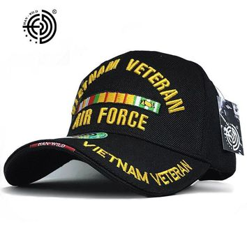 Trendy Winter Jacket Brand Casual WW2 Vietnam Vintage Cotton Gorras Memorable Air Force Cap New Snapback Letter Tactical Baseball Cap US Army Hats AT_92_12