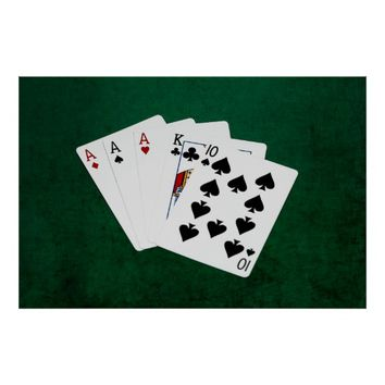 Poker Hands - Three Of A Kind - Ace Poster