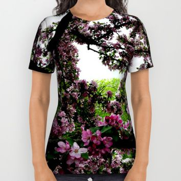 Cherry Blossoms All Over Print Shirt by UMe Images