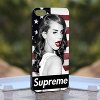 Lana Del Rey Supreme - Print on Hard Cover iPhone 5 Black Case