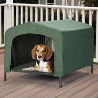 Waterproof Pet Retreat Portable Indoor - Outdoor Mesh Floor Washable Lightweight Dog House