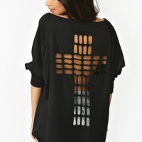 Cross Cutout Sweatshirt
