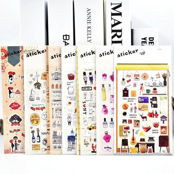 DIY Cute Kawaii PET Stickers Vintage Tower Sticky Paper For Home Decoration Scrapbooking Photo Album Diary Free Shipping 3446