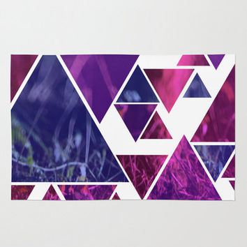 Rug - Purple Triangle Floor rug - Room Rug - Photo Art