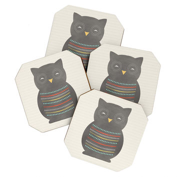Allyson Johnson Native Owl 2 Coaster Set