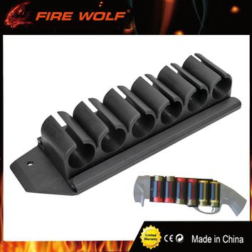 FIRE WOLF Shotgun Side Saddle Mossberg 500 590 12 Gauge GA 6 Round Shell Carrier Holder Plate Kit Hunting