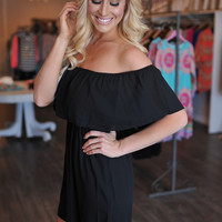 Off The Shoulder Dress- Black